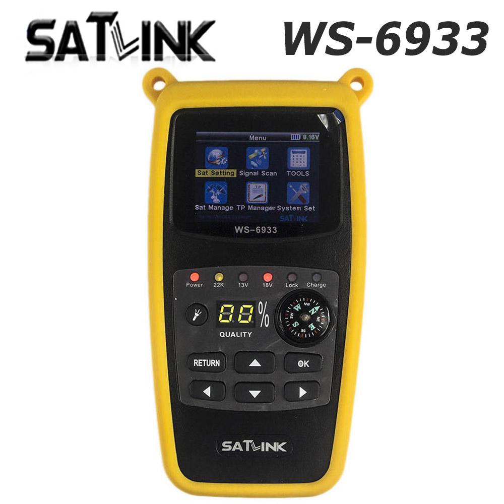 Prix pour D'origine satlink ws 6933 satellite finder dvb-s2 fta c bande ku 6933 numérique satellite finder mètre ws-6933 livraison gratuite