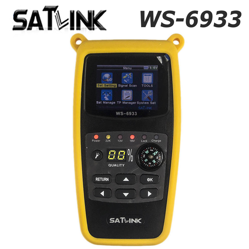 Original Satlink WS-6933 Satellite Finder DVB-S2 FTA C KU Band Satlink Digital Satellite Finder Meter WS 6933 free shipping hdmi modulator satlink ws 6990 hd av input single channel dvb t modulator compact and wall mountable ws6990 ws 6990