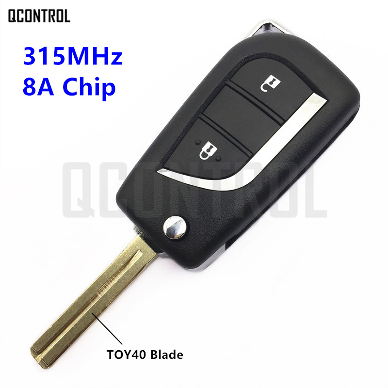 QCONTROL Remote Key for Toyota Camry Corolla RAV4 Reiz 315MHz 8A Chip Vehicle Door Controller Model No. 12BER-01 or 12BER-02 10pcs lot high quality car key chip transponder h 8a chip 128 bit for toyota rav4 camry