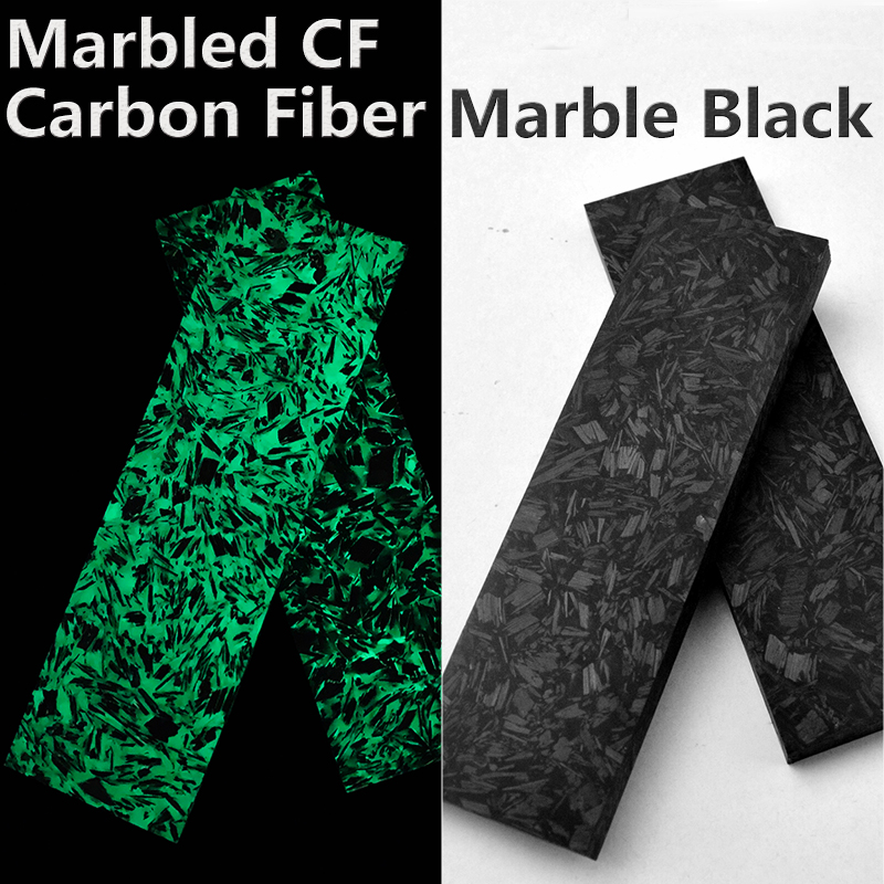 Marbled CF Luminous Carbon Fiber Shred Carbon Fiber-Natural  DIY Knife Handle Material