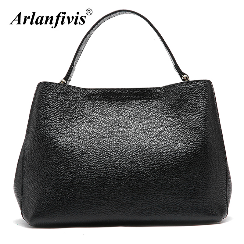 Arlanfivis Genuine Leather Luxury Women Bag Cowhide Female Handbags bolsa feminina Tote Women crossbody bags High Quality Purse charmiyi 2018 women handbags cowhide leather messenger bags luxury brand lady tote casual crossbody travel bag bolsa feminina