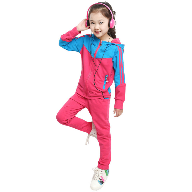 Fashion Autumn Girl Coat Pants Set Children Clothing Casual Sets Toddler Vetement Fille Kids Clothes Tracksuit Baby Suit Girls fashion brand autumn children girl clothes toddler girl clothing sets cute cat long sleeve tshirt and overalls kid girl clothes