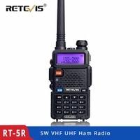 vhf uhf Retevis RT-5R Dual Band מכשיר הקשר VHF / UHF 136-174 / 400-520MHz 5W 128CH כף יד במקלט נייד Ham Radio Comunicador (1)