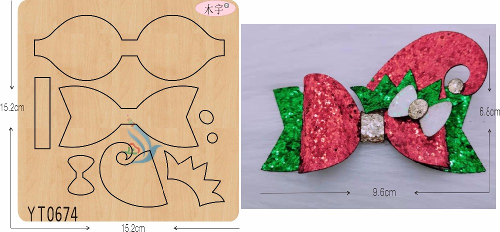Christmas hat bow DIY new wooden mould cutting dies for scrapbooking Thickness 15 8mm YT0674