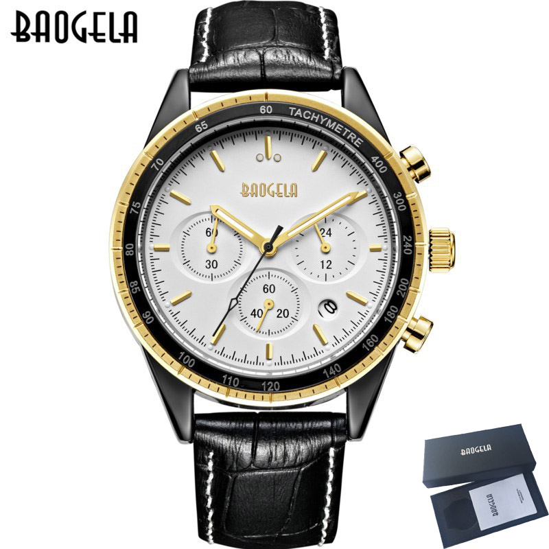 BAOGELA Mens Watches Top Brand Luxury Sport Chronograph Quartz Watch Men Waterproof Clock Luminous Hands relogio masculino 2018 цена