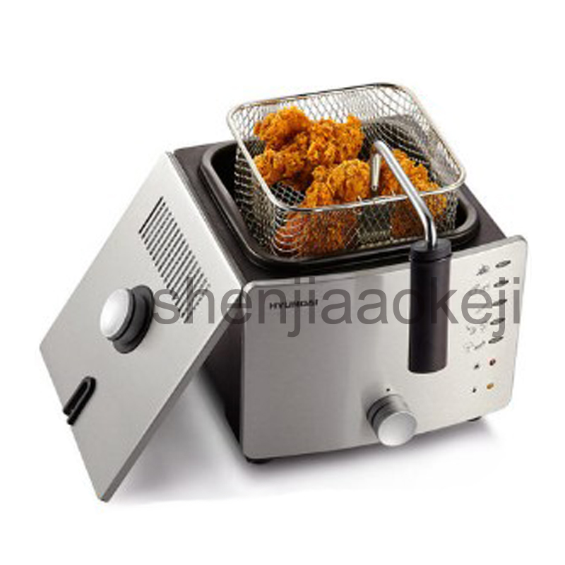 Electric fryer home smokeless fryer 220V 900W multi-function small pot small fryer genuine 1pc home healthy non stick electric deep fryer smokeless electric air fryer french fries machine for home using af 100 1pc