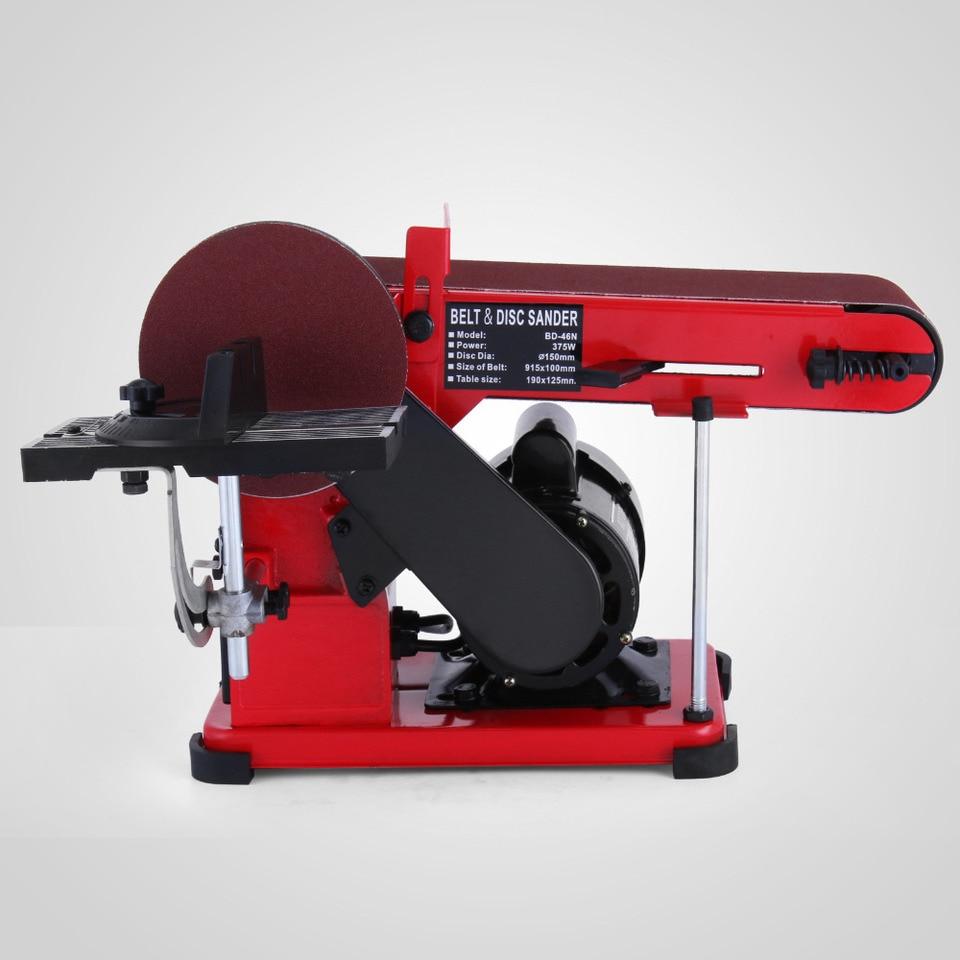 Belt Sander Bench Sander 4 Belts And 6 Disc Linisher 375w Sand Sanding Power Tool Accessories Aliexpress