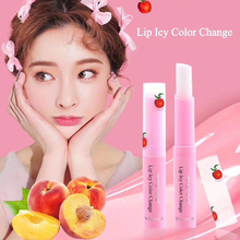 1 PC Hydratant Nutritif Fruit Saveur Rose Rouge À Lèvres Maquillage Étanche Longue Couleur Modifié Gelée Rouge à lèvres Peach Lip