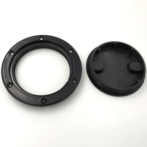 Image 2 - Marine Black Plastic Deck Plate 6 Waterproof Inspection Screw Type for Boat