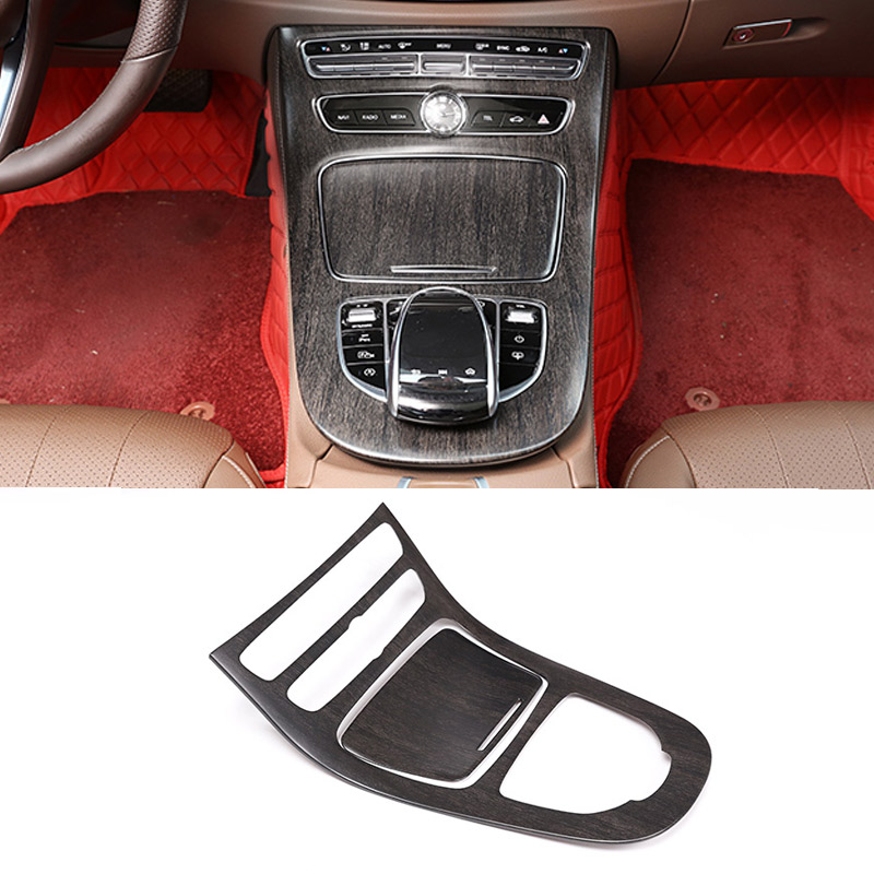 For Mercedes Benz W213 E Class 2016 2017 2018 ABS Plastic Oak wood colour Console Gear