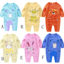 Baby onesies quality baby jumpsuit O-neck 0-12M cotton summer childrens clothes printed