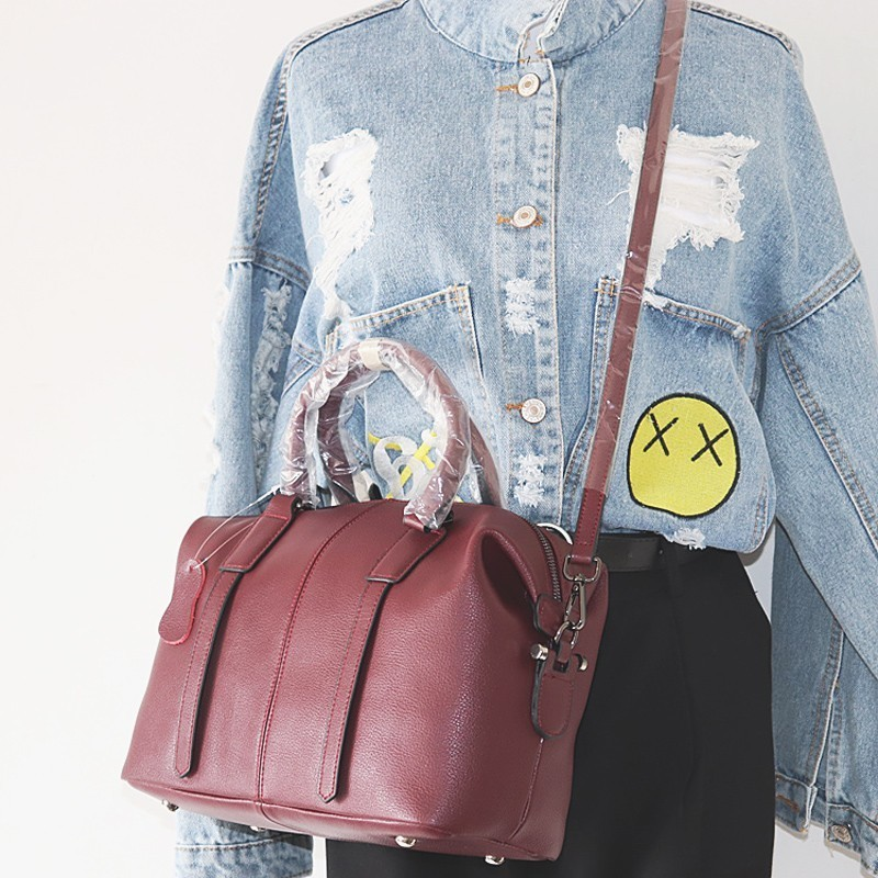 VALENMISA Famous Brand Boston Genuine Leather Bags Designer Handbags High Quality Crossbody Shoulder Bags Ladies Messenger Bags