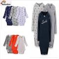 2016 New Bodysuits For Baby Girls Long Sleeve Body Infant Bebe Boys Flowers Dinosaur Spring Fall Winter Brand Clothing 6M-24M
