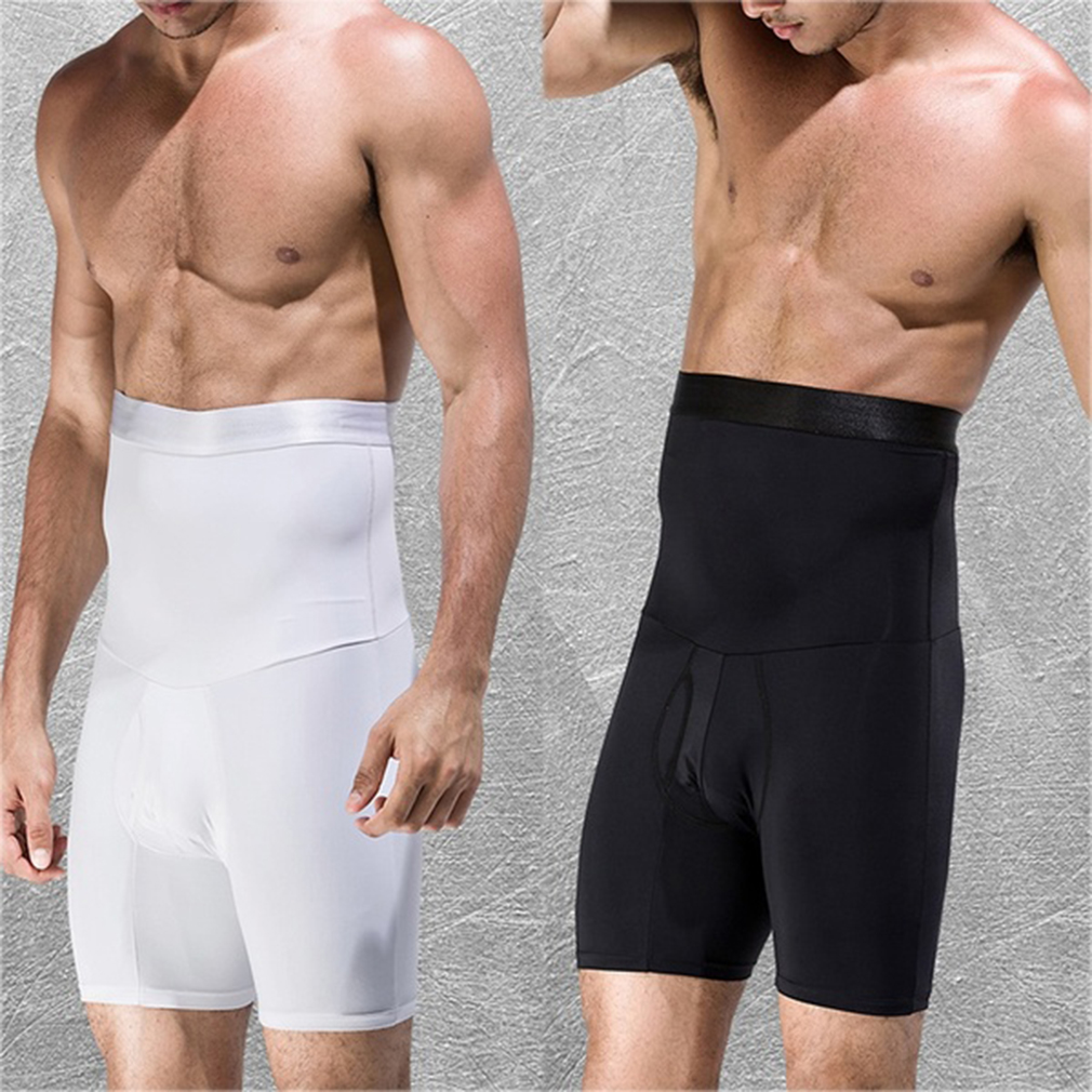 2019 New Mens Compression Shorts Line Short Tights Skinny Bodybuilding Breathable Man's Bottom Fitness Shorts