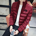 Hot sale 2016 winter jacket men stand collar knitted sleeve wadded jacket plus size 4XL men cotton-padded jacket outerwear