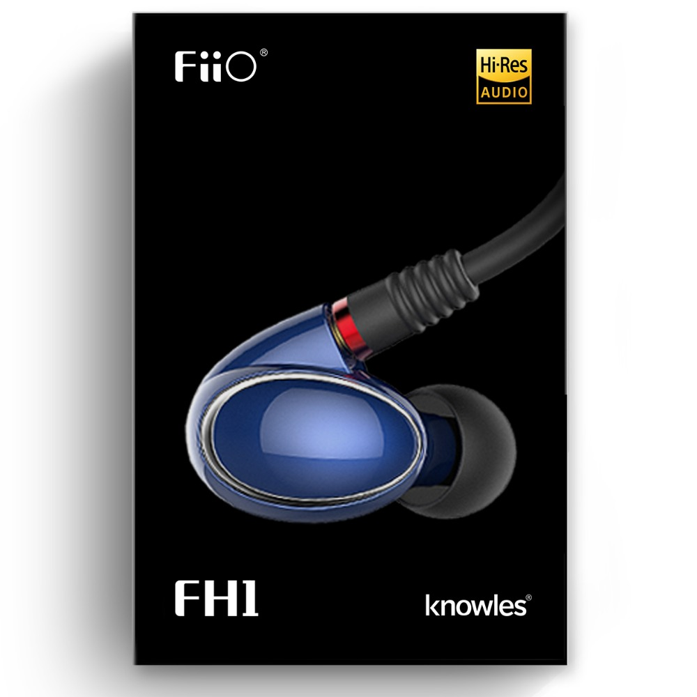 Image 4 - FiiO Knowles FH1 Balanced Armature Dynamic Hybrid HIFI Bass Stereo Earphone with Microphone and remote 3.5mm-in Phone Earphones & Headphones from Consumer Electronics