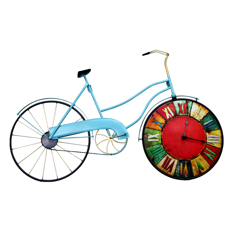 American Retro Bedroom Wall Clock Bicycle Personality Decorative Clock On The Wall Mural Decorations Home Decoration Accessories  clocks 9 | Coldplay – Clocks American Retro Bedroom Wall font b Clock b font Bicycle Personality Decorative font b Clock b