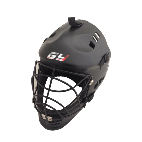 Matt black floorball helmet junior sports street hockey equipment with steel mask field hockey and lacrosse sports face shield airsoft adults cs field game skeleton warrior skull paintball mask