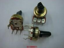 5 pçs/lote Vertical único potenciômetro B2K B5K B10K B20K B50K B100K eixo 10MMF