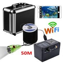 PDDHKK Wifi беспроводной визуальный видео рыболокатор камера без монитора с 6 шт. 1 Вт белыми светодиодами для льда морской речной рыбалки