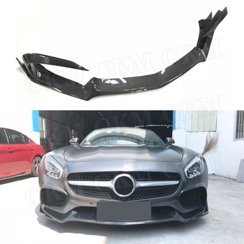 Carbon Fiber Front Bumper Lip Spoiler Splitters Flaps For Mercedes Benz AMG GT AMG GTS AMG GTR Coupe FRP Front Chin Spoiler