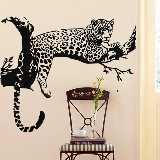 Leopard Wall Decor popular wall art pvc leopard-buy cheap wall art pvc leopard lots