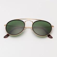 3647 Round double bridge sunglasses