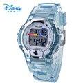100% Подлинная Диснея Спортивные Часы Дети Повседневная Цифровые Часы Reloj Водонепроницаемый студент Наручные Часы LCD-PSB002