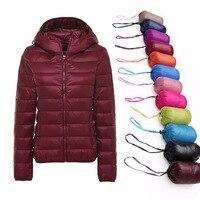 5XL 6XL 7XL Winter Women Ultra Light Duck Down Jacket Women Long Sleeve Jackets Warm Hooded Coat Parka Female Outwear Plus Size