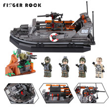 XINGBAO 06017 Genuine Military Series The Assault Boat Set Model Building Kits Educational Teachic Toys Figures Gift For Kids(China)