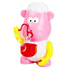 Овца автоматическое устройство для мыльных пузырей мигающие огни Музыка пузырьковая машина детская Ванна игрушка AN88
