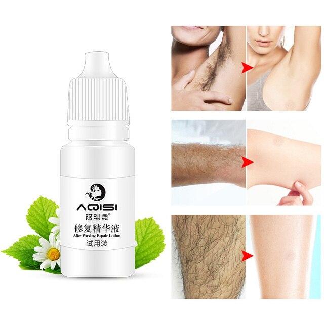 ที่มีประสิทธิภาพสมุนไพรถาวร Hair Growth Inhibitor After Hair Removal Repair บำรุงผิว Essence Liquid ซ่อม Liquid