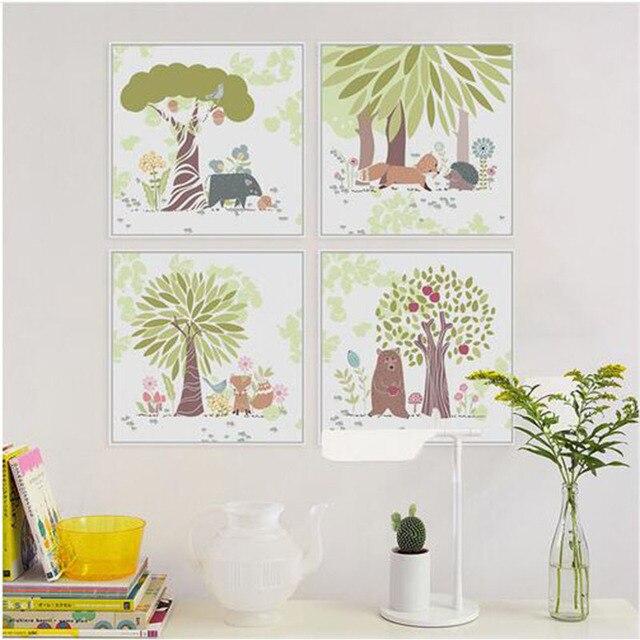 Illustrazione di orso dei cartoni animati paesaggio invernale