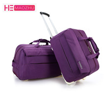 HEMAOZHU  Fashion Waterproof Luggage Bag Thick Style Rolling Suitcase Trolley Women&Men Travel with Wheels