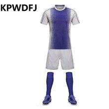 2016 High-quality Football Training jerseys Sets Football Manga Teens Shirts Short Men Breathable Sports jerseys soccer