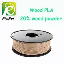 Su mejor opción de madera filamento 1.75mm filamento 0.8 kg pla 3D Filamento PLA plástico filamento carrete de madera de madera natural 3d