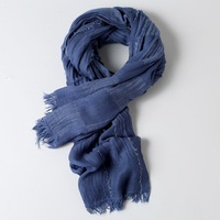 DIFANNI New Fashion Spring And Summer Scarf Cotton Solid Color Scarf Women Ethnic Style Lady Shawls