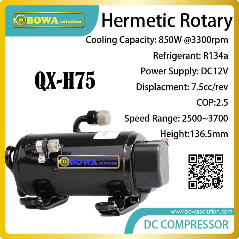 DC12V horizontal rotary compresssor suitable for Recreational Vehicles or caravans in different conditions