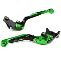 New Green Motorcycle Adjustment CNC Aluminum Brakes Clutch Levers Set Motorbike Brake For Kawasaki Z800 E