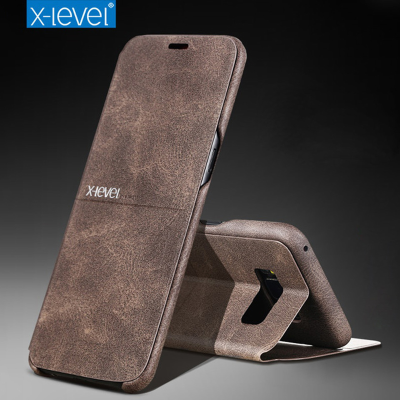 cheaper 3d5e4 eb66b US $11.97 30% OFF|X Level For Samsung Galaxy S8 S9 Plus Case Cover Note8 PU  Leather Flip Folding Bracket Wallet Case For Samsung S9 S8 Note 8 Case-in  ...