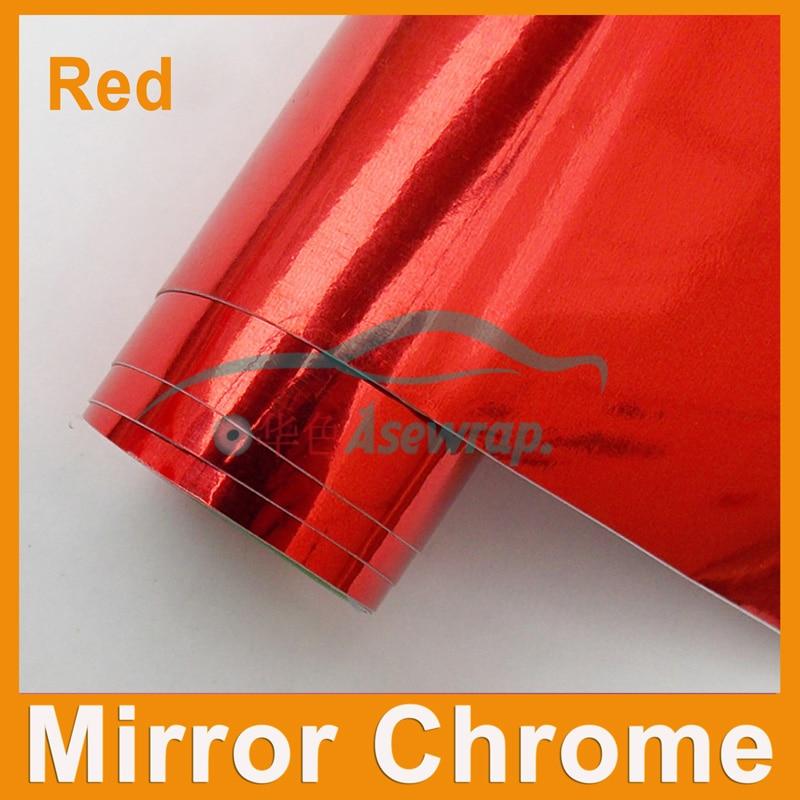 Blåt spejl Chrome spejl Vinylindpakning bil Klistermærke krom spejl bildekoration Vinyl med luftkanaler
