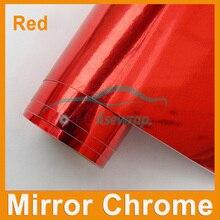 Blue mirror Chrome Mirror Vinyl wrapping car Sticker film Chrome mirror car decoration Vinyl with air Channels