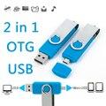 Teléfono móvil Dual del Usb Flash Drive 8 gb 16 gb 32 gb 64 gb Otg Impulsión de la pluma del Regalo del Negocio USB Flash Del Palillo de la Tarjeta de Memoria de 128 GB 256 GB 1 TB