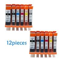 12pcs PGI570 PGI 570 CLI 571 Compatible Ink Cartridges For Canon PIXMA MG5750 MG5751 MG5753 MG6850