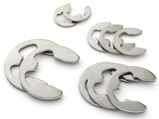 100pcs M5 M6 M7 M8 Stainless Steel E Type Retaining Ring Washers E ...