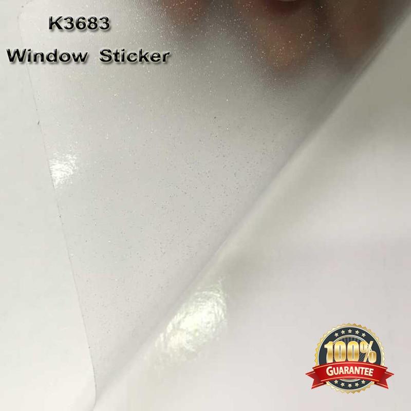 500 cm * 122 cm Auto-adhésif Blanc Givré Glitter Vitres Teintées window Film Décoratif Fenêtre Autocollants pour Bureau Partition K3683