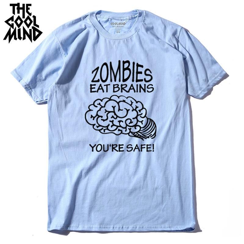 Velocitee Mens Long Sleeve T shirt Zombies Eat Flesh Walking Dead Horror Zombie