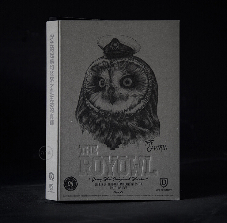 The Royal Owl Series Limited Edition Sketchbook B5 268P With Special Natural Cutting Side Notebooks Cool Gift For Drawing zenfone 2 deluxe special edition