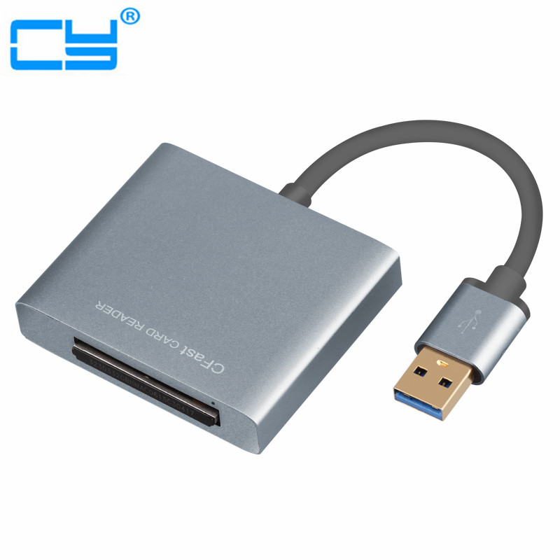 Professional USB 3.0 to CFast Card CFast 2.0 USB 3.0 Reader Writer Slot Adapter High Speed 5Gbps ssk scrm056 usb 3 0 5gbps high speed multifunctional card reader white silver grey max 64gb