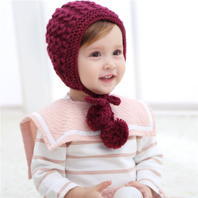 Bnaturalwell Children Baby Crocheted Hat Toddler Knit Hat With